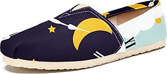 Tizorax Clock with Day Sun and Night Moon Mens Slip on Loafers Shoes Casual Canvas Flat Boat Shoe