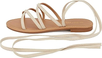 Saute Styles New Ladies Summer Sandals Women Beach Sliders Lace Up Gladiator Flat Shoes Size Size Beige Summer Sliders 4