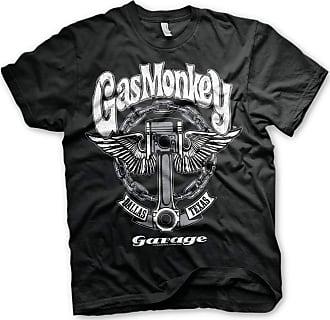 Gas Monkey Garage Officially Licensed - Big Piston T-Shirt T Shirt GMG (XX-Large) Black