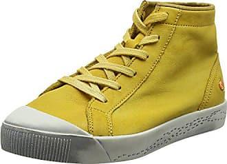 Softinos KIP448SOF Washed, Baskets Hautes Femme, Gelb (Yellow), 38 EU c62802285440