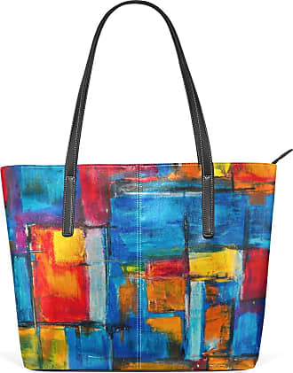 NaiiaN Light Weight Strap Chiefs Tote Bag Shoulder Bags for Women Girls Ladies Student Handbags Purse Shopping Leather Abstract Colorful Graffiti Pop Style