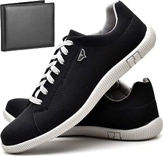 Juilli Kit Sapatênis Sapato Casual Com Carteira Masculino JUILLI 900DB Tamanho:37;cor:Preto;gênero:Masculino