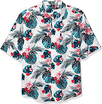 Southpole Mens Big and Tall All Over Print Woven Shirt, White Hawaiian, 4XB