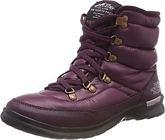 7aadf78a3e The North Face Thermoball Lace II, Bottes de Neige Femme, Marron (Shiny Fig