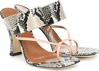 PARIS TEXAS Snake-effect-leather sandals