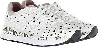 Premiata Sneaker in pelle con inserti traforati bianco 35