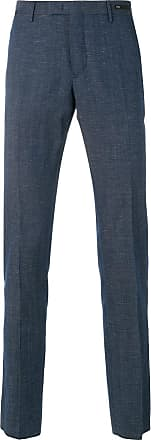 PT01 skinny chambray trousers - Blue
