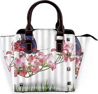 Browncin Spring Summer Nature Butterfly On Blossom Flowers Dew Leaves Morning Serenity Detachable Fashion Trend Ladies Handbag Shoulder Bag Messenger Bags