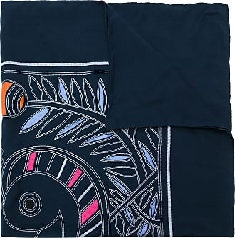 Tory Burch Lenço Toucan de seda bordado - Azul