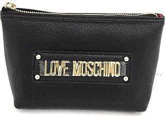 Love Moschino PU GRAIN BAG - BLACK Size: 15 x 10 x 6 cm