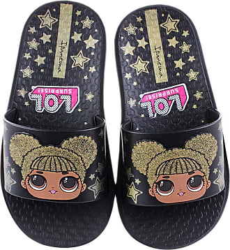 Grendene Chinelo Slide Menina Ipanema LOL Surprise! Black/Gold