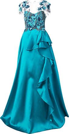 Marchesa embellished floral gown - Blue