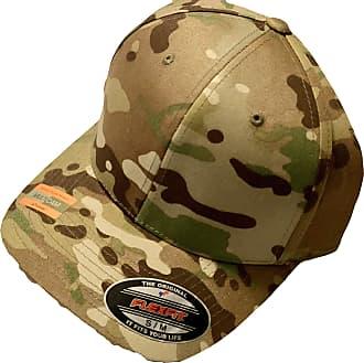 Yupoong Flexi fit Baseball caps, Mens & Ladies Flexfit Hats, Plain Fitted Hip hop Designer (S/M, Multi cam Khaki)