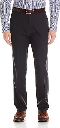 Kenneth Cole Reaction Mens Stretch Modern-Fit Flat-Front Pant - Black - 34W x 30L