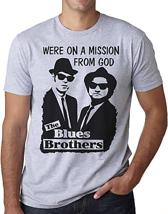 OM3 Blues Brothers - Mission from GOD - T-Shirt Jake and Elwood Blues USA, L, Heather Grey