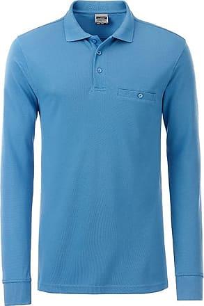 2Store24 Mens Workwear Polo Pocket Longsleeve in Aqua Size: XXL