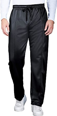 Chums Mens Easy Pull On Track Pant with Full Elastication Black 40W / 29L