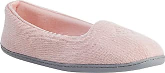 Dearfoams Womens Rebecca Chenille Closed Back Slipper, Dusty Pink, XL