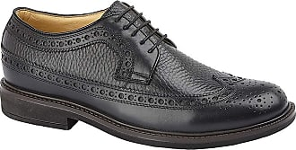 Roamers James Mens Leather Lace Up Brogue Gibson Shoes Black UK 12