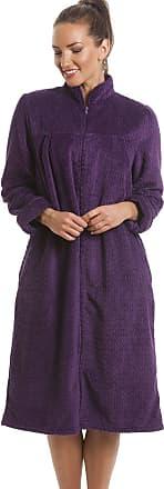 Camille Soft Fleece Purple Zip Front House Coat 10/12