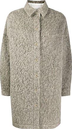 Iro furry knit coat - NEUTRALS