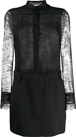 Philosophy di Lorenzo Serafini combined lace shirt dress - Black