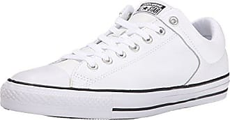 Converse Mens Street Leather Low Top Sneaker, Black/White, 5.5 M US