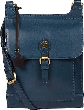 Pure Luxuries London Conkca London Sasha Womens 19cm Biodegradable Leather Cross Body Bag with Magnetic Press Stud Secured Fold Over Top, 100% Cotton Lining and Adjustable