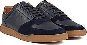 BOSS Lowtop Sneakers aus Velours- und Nappaleder
