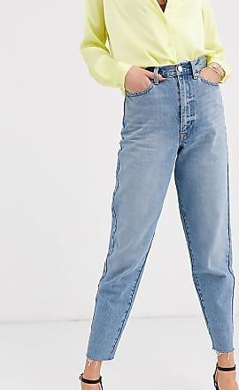 Asos Tall ASOS DESIGN Tall - Boyfriend-Jeans mit Ballonschnitt in verwaschenem Mittelblau