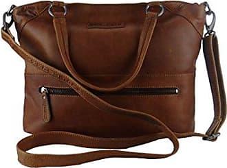 HILL BURRY Damen Leder Tasche Shopper Bag grün viele Fächer Neu 3116