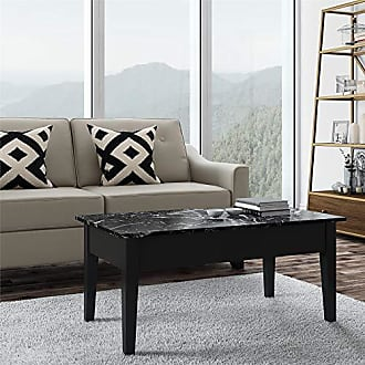 Dorel Home Products Faux Marble Lift Top Coffee Table, Black