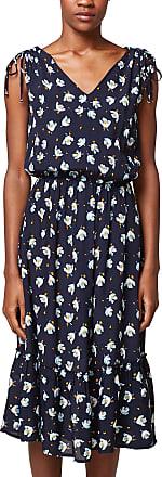 EDC by Esprit Womens 048cc1e029 Dress, Multicoloured (Navy 400), 8 (Size: 34)