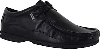 Lambretta Fast Mens Lace Up Smart Casual Leather Work School Shoes UK 10 / EU 44 Black