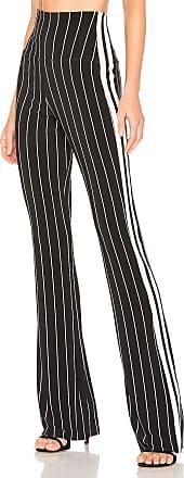 Norma Kamali Side Stripe Boot Pant in Black
