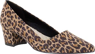 Easy Street Womens Temple Fabric Pointed Toe Classic, Leopard Sup, Size 9.0 US/US