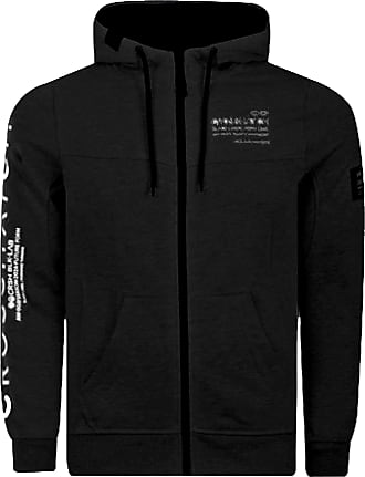 Crosshatch 2k19Sep New Zip Up Hoodie Hooded Full Zip Thru Jacket Jumper Sweatshirt [Black - Youles, S]