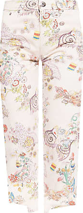 Lanvin Patterned Jeans Womens Cream