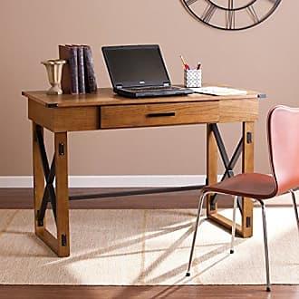 Southern Enterprises Canton Adjustable Height Desk - Adjusting Height Riser for Standing - Hidden Compartments