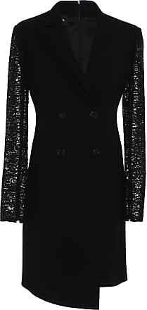 Akris Embroidered Wool Blazer Dress