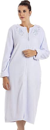 Camille Womens Soft Fleece Blue House Coat 10/12 Blue
