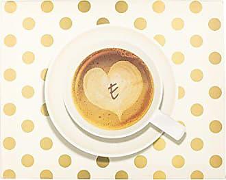 Cathy's Concepts Personalized Espresso Café Canvas, Letter