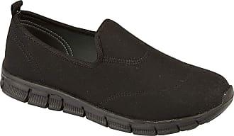 Urban Jacks Surf Womens Loafer Flats Shoes Trainers Pumps (7 UK, Black)