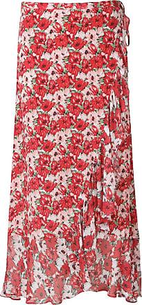 Rixo Gracie Diana wrap skirt - Vermelho