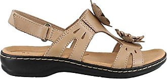 33166bbda5a2 Clarks Womens Leisa Claytin Flat Sandal Sand Leather 8 M US