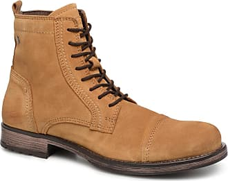 3079db3f46ba89 Jack   Jones JFWRUSSEL Suede - Stiefeletten   Boots für Herren   beige