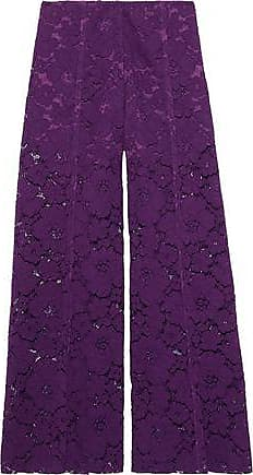 Philosophy di Lorenzo Serafini Philosophy Di Lorenzo Serafini Woman Cotton-blend Corded Lace Wide-leg Pants Purple Size 42