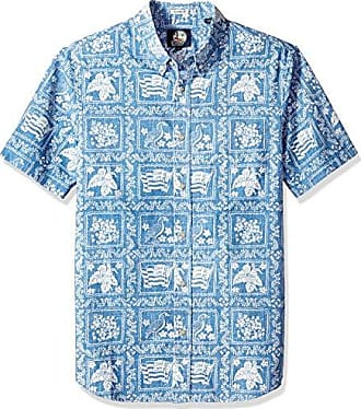 c624c5b6 Reyn Spooner Mens Lahaina Sailor Weekend Wash Tailored Fit Hawaiian Shirt,  Denim, M