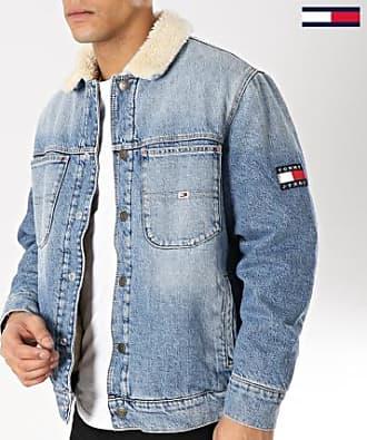 Tommy Jeans Tommy Hilfiger Jeans - Veste Jean Col Mouton Sherpa 5766 Bleu  Wash Ecru 72e56e9fb212