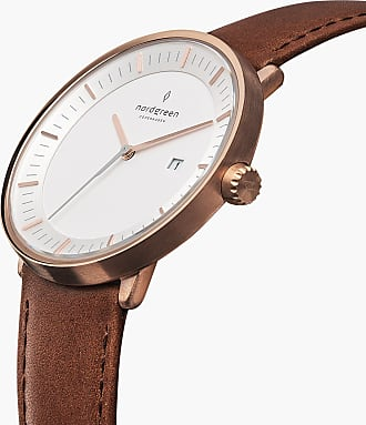 Nordgreen Philosopher - Rose Gold | Brown Leather - 36mm / Rose Gold